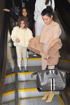 North West jetted out of New York on Sunday to head back to LA to meet her new cousin, after Kylie Jenner gave birth on February 1.