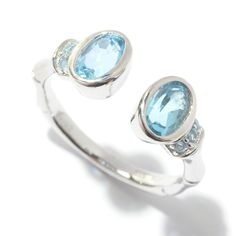 145-066- NYC II® Oval & Round Gemstone Bypass Ring