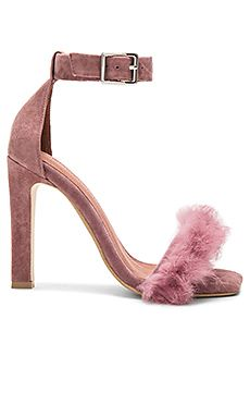 Jeffrey Campbell Obus FT Heels with Rabbit Fur in Dusty Rose Suede Combo from Revolve.com | @giftryapp