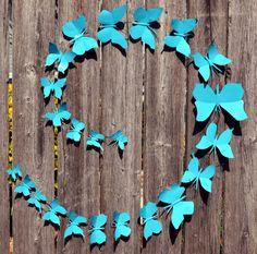 Butterfly Wall Decor 3 metal Butterflies on a metal by ArtNmetal ...