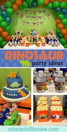 Dinosaur Party: Daniel's ROAR-some Birthday. We've got some prehistoric fun today with a cute Dinosaur party! Be sure to check out all our Dinosaur Party Ideas. via @mimisdollhouse