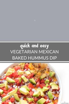 Vegetarian Mexican, Vegetarian Appetizers, Vegetarian Recipes Easy, Appetizer Recipes, Party Food Easy Cheap, Fancy Appetizers, Small Meals, Side Dish Recipes, Hummus