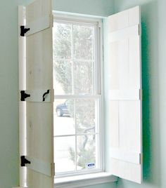 Loads of Pins diy farmhouse style indoor shutters, diy, rustic furniture, window treatments, windows Farmhouse Style, Farmhouse Decor, Farmhouse Windows, Farmhouse Remodel, Farmhouse Ideas, Farmhouse Interior Shutters, Diy Interior Window Shutters, Cottage Windows, Kitchen Windows
