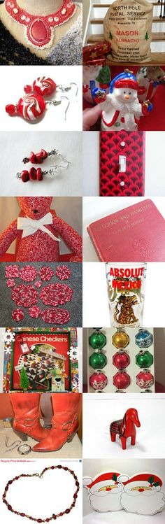 Red-Collection by Pooja Vishnoi on Etsy--Pinned with TreasuryPin.com