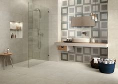 Mirage Mashup Square   Concrete Look Tile   Available at Ceramo