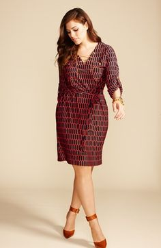 Great for work! MICHAEL Michael Kors Plus-Size Shirtdress & Accessories