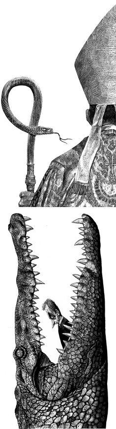 Brilliant Editorial Illustrations by Chilean illustrator Ricardo Martinez