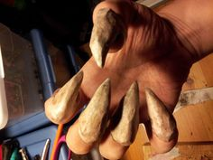 Picture of Monster Claws with Homemade Paper Clay