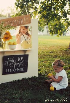 Dear Lillie: Puppet Theatre - so so cute! Says she will post a tutorial on how to make this stand, converts to a puppet theatre and anything else you can make a sign for! LOVE THIS!