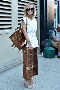 New York Fashion Week, Day 2 #StreetStyle