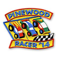 2 x 2 1/2 Inches **IRON-ON backing for easy & Snappy application** Get ready to go! Our Pinewood Racer '14 fun patch is perfect for recognizing the achievements of the children in your life who participated in a Pinewood Event this year. http://www.snappylogos.com/Pinewood-Racer-14-Fun-Patch/productinfo/3153/
