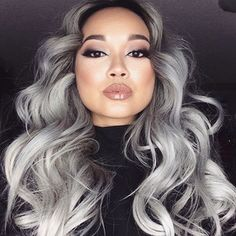 Brazilian body wave grey hair weave 3pcs with closure silver grey ombre hair extensions with closure 1b/grey human hair