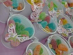 pails with gumdrops