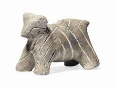 A VINCA TERRACOTTA ANIMAL  Neolithic, circa 5th Millennium B.C. 10cm long. Christies London  Estimated 700GBP-1000