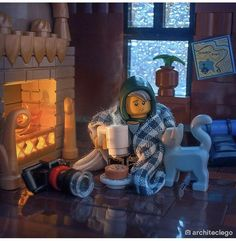 Dont know if this counts but Legos latest post has me wishing I had a fireplace . Dont know if this counts but Legos latest post has me wishing I had a fireplace like that Lego Sculptures, Lego Pictures, Amazing Lego Creations, Lego Room, Lego Ninjago, Ninjago Memes, Lego Lego, Lego Worlds, Lego Photography