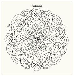 Round lace. Imitation. Painting lessons from Arlene Linton. W - 1 .. Discussion LiveInternet - Russian Service Online Diaries