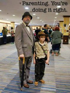 Indiana Jones #cosplay- Pinning this because OMG it's Laz! You are required to pin when you know the awesome guy in the picture with his cute kid!!