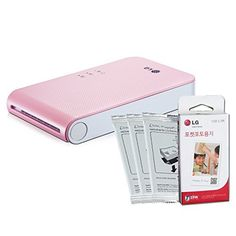 Introducing SET New LG Pocket Photo PD241 PD241T Printer Pink Followup model of PD239  LG Zink Photo Paper 30 Sheets. Great product and follow us for more updates!