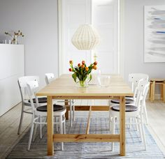 IKEA offers everything from living room furniture to mattresses and bedroom furniture so that you can design your life at home. Check out our furniture and home furnishings! Ikea Norden Table, Ikea Dining Table, Extendable Dining Table, Dining Chairs, Wood Table, Kitchen Tables, Dining Sets, Table Extensible, Best Dining