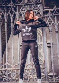 "Stylish ""Adidas"" tracksuit with hood."