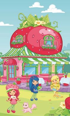 This Picture Map Show The Berry Bitty City Strawberry