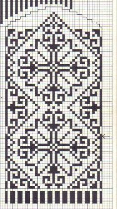 Knitted Mittens Pattern, Fair Isle Knitting Patterns, Knit Mittens, Knitting Charts, Weaving Patterns, Mitten Gloves, Cross Stitch Borders, Cross Stitch Patterns, Crochet Chart