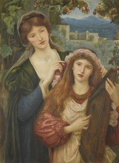"""Marie Spartali Stillman (1844-1927), """"The childhood of St. Cecily"""""""