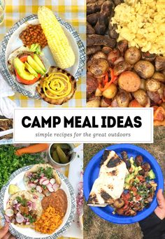 Tracy from Shutterbean.com shares her Camping Meal Ideas to liven up your camp life! Burgers, tacos, breakfast burritos, s'mores- you name it!