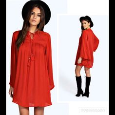 "NWT Boho Rust Dress Sz 6 Bust. 42"".  Length 33"". 100% viscose Dresses Mini"