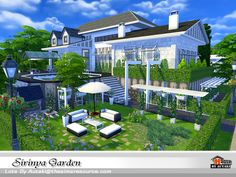 Sirinya Garden. Found in TSR Category 'Sims 4 Residential Lots'