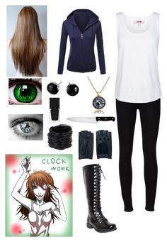 """Creepypasta: Clockwork"" by ender1027 ❤ liked on Polyvore featuring Frame Denim, adidas, J.A. Henckels, Zanellato, Saachi and Gucci"