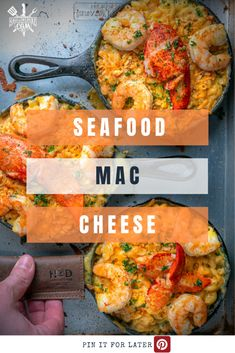 You don't have to spend top dollar at a restaurant when you can make Seafood Mac and Cheese for half the price of going out. Loaded with crab, shrimp and lobster this seafood mac and cheese will be a hit fore sure. Shellfish Recipes, Shrimp Recipes, New Recipes, Seafood Mac And Cheese, Incredible Recipes, Food Preparation, Grilling Recipes, The Fresh, Food Inspiration