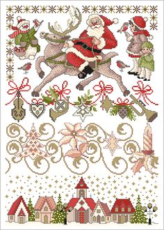 Stickvorlage Lindner's Kreuzstiche - Weihnachtszauber