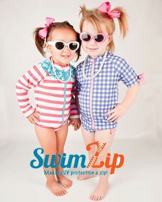 More coverage and UV protection with SwimZip swimwear!