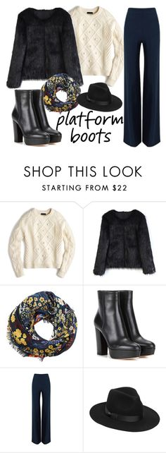 """""""Без названия #288"""" by tyttaya ❤ liked on Polyvore featuring J.Crew, Chicwish, MANGO, Gianvito Rossi, Roland Mouret and Lack of Color"""