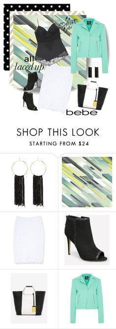 """""""All Laced Up - BeBe"""" by designed-4-life ❤ liked on Polyvore featuring Bebe, Osborne & Little and McQ by Alexander McQueen"""