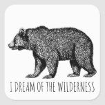 I Dream Of The Wilderness Walking Bear Square Sticker   hiking inca trail, family hiking, hiking trips usa #hikingmountains #hikingislife #hikinginthemountains Hiking Food, Hiking Trips, Backpacking, Hiking Training, Wanderlust Quotes, Outdoor Gifts, Camping Coffee, Mountain Hiking, Fishing Gifts