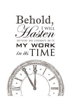 Hasten the work of salvation // D&C 88:73 #sharegoodness #LDSconf #imamormon