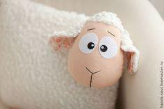 Овечка-подушка - белый,овечка,овечка игрушка,Овечки,овечка в подарок,новый год 2015