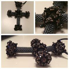 Es ist vollbracht <3 das Lucrezia Kreuz von Sabine Lippert ist nachgefädelt.