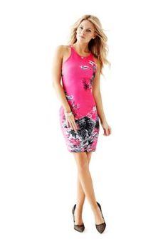Berty Tiger-Print Dress | GUESS.com