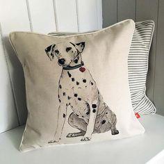 Dalmatian feature cushion