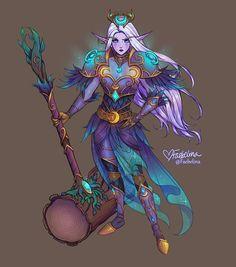 Kaldorei Paladin Faeb by Faebelina on DeviantArt Warcraft Art, World Of Warcraft, Paladin, Game Character Design, Character Art, Moon Elf, Night Elf, Dark Art Drawings, Learn Art