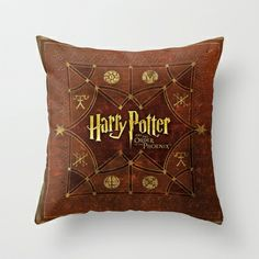 Harry Potter The Order Of The Phoenix Throw Pillow by neutrone - $20.00