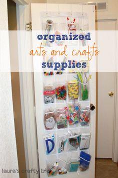 Lauras Crafty Life: Organized Art and School Supplies