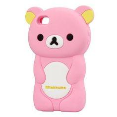 Amazon.com: Adorable Rilakkuma Soft Silicone Case for Iphone 4 4s: Cell Phones & Accessories