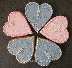 My Cake Alley: Cookies: Heart-Shaped Sugar Cookies Heart Shaped Cookies, Heart Cookies, Cut Out Cookies, Royal Icing Cookies, Cupcake Cookies, Sugar Cookies, Cupcakes, Pretty Cakes, Beautiful Cakes