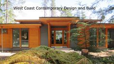See the grey walls. modern west coast home design   ... Frame Homes   Post and Beam   Vancouver Home Builder   Tamlin Homes