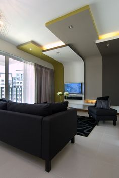 Punggol Drive Apartment - Condominium living room interior design idea