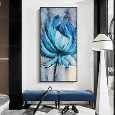Valentines Original Abstract blue Flower acrylic Paintings On Canvas Extra Large Wall Art pictures framed wall art texture floral painting Floral Painting, Wall Art Pictures, Abstract Artwork Painting, Painting, Abstract, Art Pictures, Canvas Painting, Texture Art, Abstract Painting Print